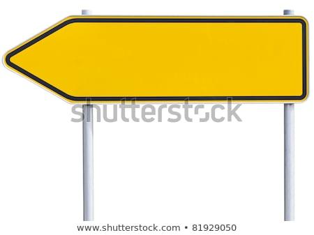 Road Sign Yellow Blank Single stock photo © Quka