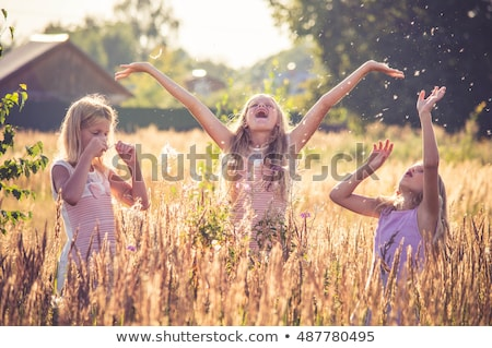 little · girl · jogar · amarelo - foto stock © joseph73