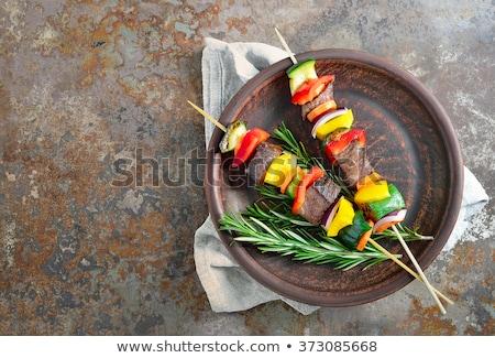 焼き · 野菜 · まな板 · 石 · 表 - ストックフォト © ozgur