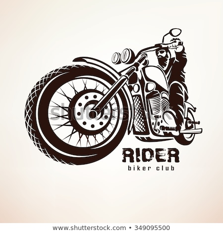 Chopper motorcycle vector with rocker Stock photo © krabata