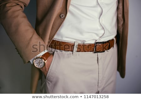 Young man in pants and shirt Stock photo © acidgrey
