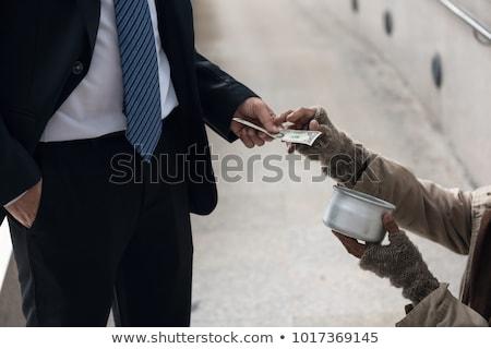 Disperato imprenditore contanti business soldi mano Foto d'archivio © photography33