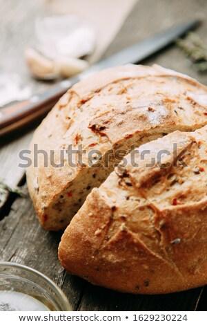 рожь хлеб чеснока полотенце пшеницы Сток-фото © Rob_Stark