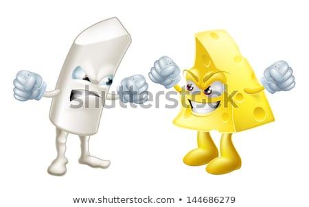 Chalk and cheese opposites concepts Stock photo © Krisdog
