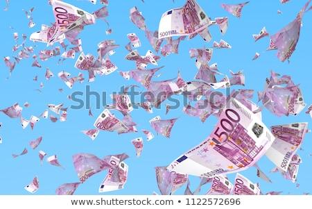 Esik az eső eurók zuhan fehér bank siker Stock fotó © CaptureLight