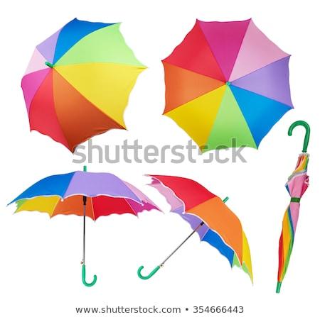 Roze paraplu geïsoleerd witte groot zuiver Stockfoto © pixelsnap