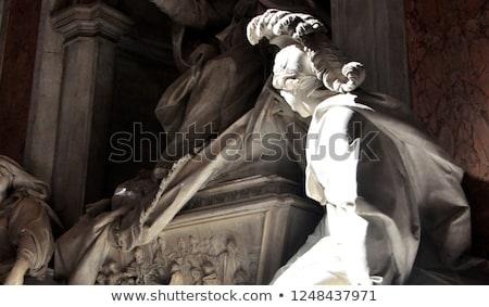 Pápa szobor Vatikán Róma Olaszország templom Stock fotó © billperry