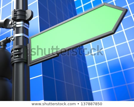 Stock photo: Blank Raodsign on Blue Background.