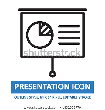 projector screen with pie chart stock photo © gladiolus