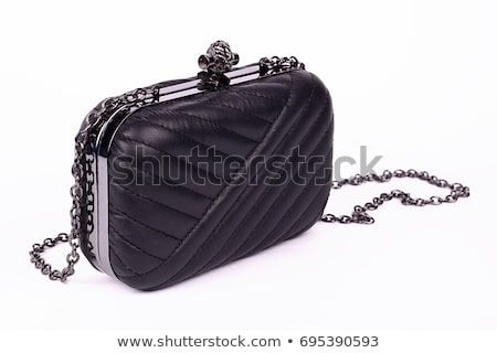 dame · zwarte · handtas · klein · handgemaakt · elegante - stockfoto © doupix