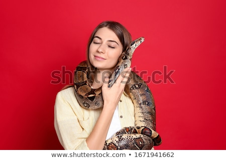 Exotic Woman with a Boa Stock photo © Discovod