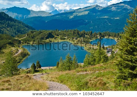 colbricon lake italy stock photo © antonio-s