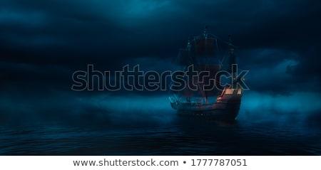 Pirate flag - 3D render Stock photo © Elenarts