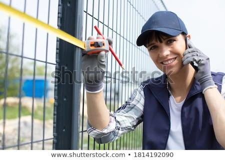 ferro · cancello · recinzione · chiuso · grande · bianco - foto d'archivio © ruslanomega