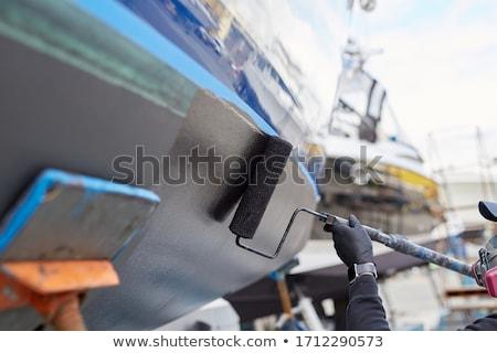 старые окрашенный лодках воды порта Сток-фото © aladin66
