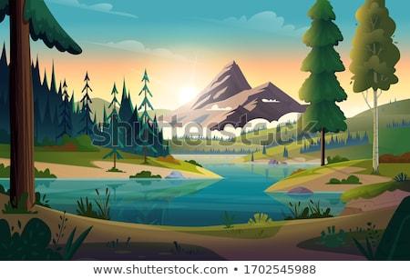 湖 銀行 ボート 水 光 釣り ストックフォト © taden