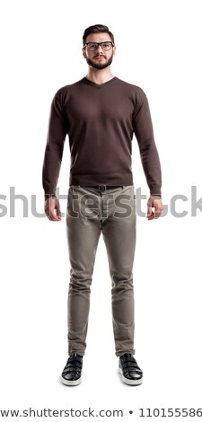 Full length of  friendly smiling muscular man posing stock photo © stepstock