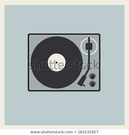Klasszikus lemezjátszó ikon illusztráció fehér tánc Stock fotó © lirch