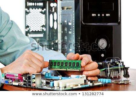 Placa-mãe medir homem computador ferragens Foto stock © simpson33