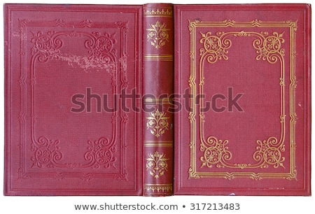 cover for book with gold ornamentation Stock photo © yurkina