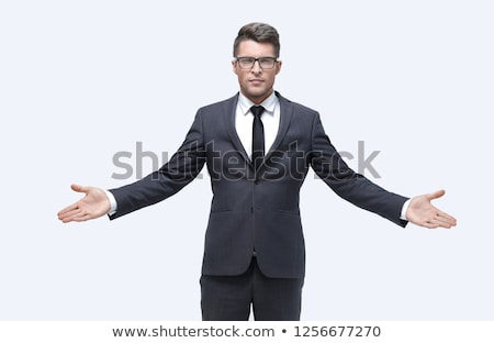 man in suit with an outstretched hand Stock photo © nito