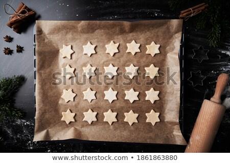 sterren · cookie · mes · papier · star - stockfoto © Tomjac1980