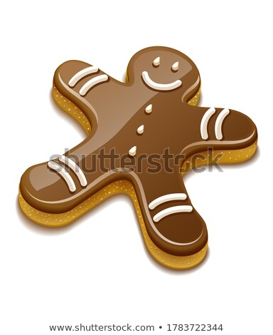 Sweet chocolate biscuit human for christmas holiday Stock photo © LoopAll