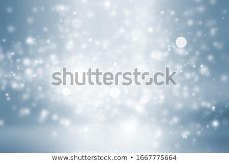 Blurred bokeh nature background with snow flakes Stock photo © karandaev