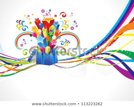 soyut · büyü · kutu · dalga · doğum · günü · arka · plan - stok fotoğraf © pathakdesigner