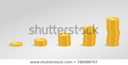graph of the columns of coins Stock photo © oly5