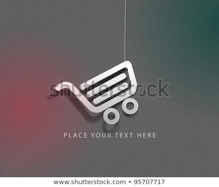 Turuncu alışveriş web simgeleri vektör alışveriş sepeti ayarlamak Stok fotoğraf © digitalmojito