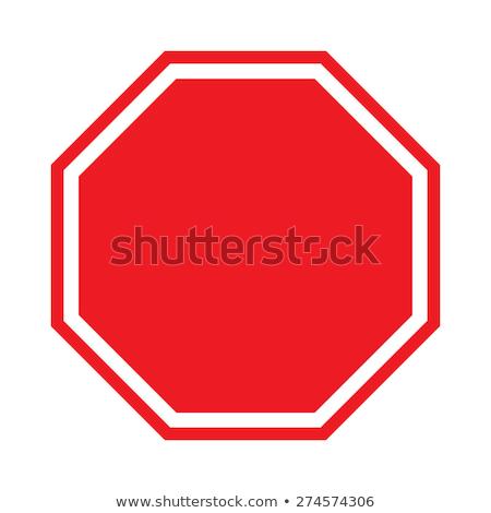 Vazio sinal de parada vetor vermelho sinais transporte Foto stock © burakowski