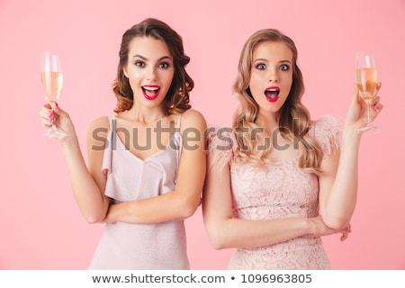 Chique dame portret aanbiddelijk meisje elegante Stockfoto © pressmaster