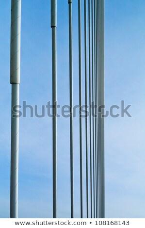 Stock fotó: Nagy · híd · égbolt · textúra · út · épület