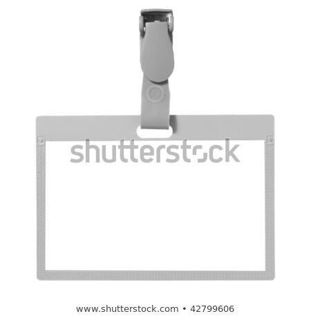 イド カード カットアウト 空っぽ 孤立した 白 ストックフォト © Suljo