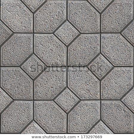 Granular Paving Slabs. Seamless Tileable Texture. Stock photo © tashatuvango