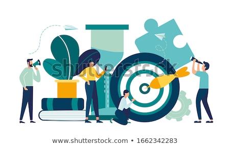 Időbeosztás puzzle szó megoldás hatásfok óra Stock fotó © unikpix