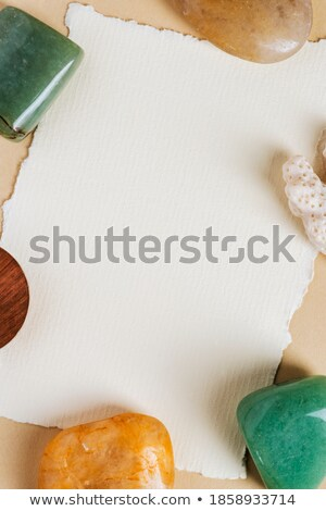 background frame and precious stones with space for text stock photo © yurkina