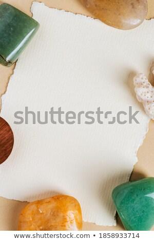 Keret értékes kövek űr szöveg illusztráció Stock fotó © yurkina
