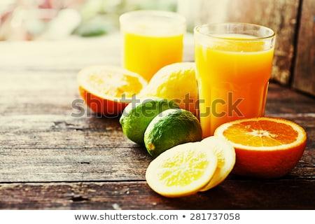 Citrus gyümölcs dzsúz izolált fehér természet gyümölcs Stock fotó © natika