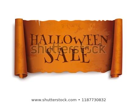 halloween · vásárlás · ősz · szezonális · üzlet · vásárol - stock fotó © lightsource