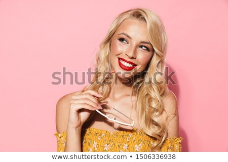 Alluring woman wearing fancy sunglasses Stock photo © majdansky
