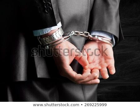 üzletember · börtön · illusztráció · mutat · mögött · rácsok - stock fotó © rudall30