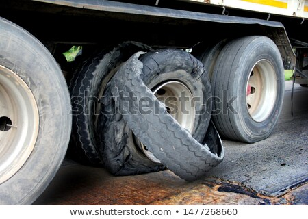 exploded tire of a truck Stock photo © taviphoto