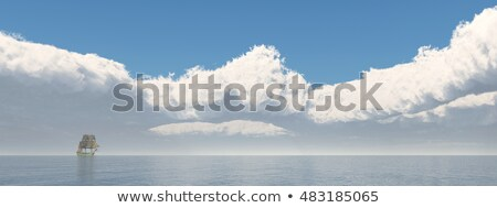 Zeilschip afstand computer gegenereerde 3d illustration oceaan Stockfoto © MIRO3D