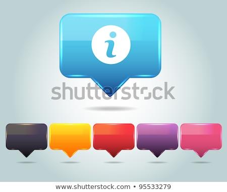 Info vert vecteur icône bouton web Photo stock © rizwanali3d