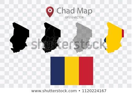 Сток-фото: карта · республика · Чад · точка · шаблон · вектора