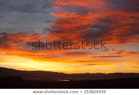 Sunrise Comes over Owens Lake Sierra Nevada Range California Stock photo © cboswell
