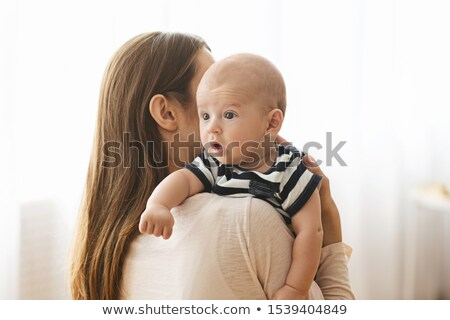 Foto stock: Bebê · belo · caucasiano · hispânico · mãe