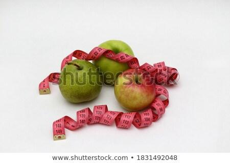 pear ruler isolated on white background stock photo © borysshevchuk